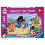 Ravensburger-08056 3 Puzzles - Nella, The Princess Knight