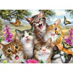 Puzzle  Ravensburger-12620 XXL Teile - Friendly Felines
