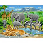 Puzzle  Ravensburger-12736 Tiere in Afrika