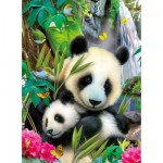 Puzzle  Ravensburger-13065 Charmanter Panda