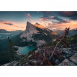 Puzzle  Ravensburger-15011 Nature Edition No 16 - Ein Abend in den Rocky Mountains