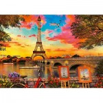Puzzle  Ravensburger-15168 The Banks of The Seine, Paris