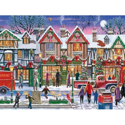 Puzzle Ravensburger-15291 Christmas in the Square