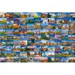 Puzzle  Ravensburger-17080 99 Beautiful Places in Europe