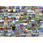Puzzle  Ravensburger-19371 99 Beautiful Places on Earth