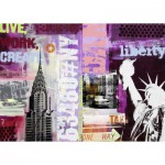 Puzzle  Ravensburger-19613 Collage New York City