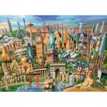 Puzzle  Ravensburger-19798 World Landmarks
