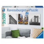 Ravensburger-19923 3 Puzzles - New York City Impressionen