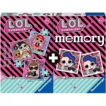 Ravensburger-20549 Multipack - Memory and 3 Puzzles - Lol Surprise