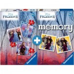 Ravensburger-20673 Multipack - Memory and 3 Puzzles - Frozen 2