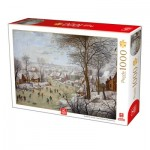Puzzle  Deico-Games-76656 Brueghel the Younger - Winterlandscape with a Bird Traps