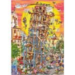 Puzzle  Dtoys-61218 Cartoon Collection: Der schiefe Turm von Pisa, Italien