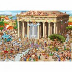 Puzzle  DToys-61218-CC04-(70890) Cartoon Collection: Akropolis, Griechenland