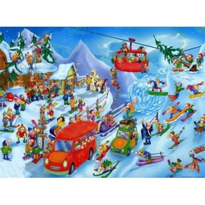 Puzzle DToys-61218-CC05 Cartoon Collection - Winter