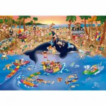 Puzzle  Dtoys-61218-CC06-(70876) Cartoon Collection: Stau am Strand