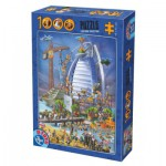 Puzzle  Dtoys-61218-CC12 Cartoon Collection - Burj Al Arab