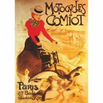 Puzzle  DToys-67555-VP02 Vintage Posters: Motocycles Comiot