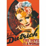 Puzzle  Dtoys-69559 Vintage Posters: Marlene Dietrich - The Devis is a Woman
