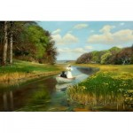 Puzzle  Dtoys-72795-BR01 Hans Andersen Brendekilde: A Young Couple in a Rowing Boat on Odense