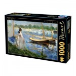 Puzzle  Dtoys-73068-MA05-(74522) Edouard Manet - Seine-Ufer bei Argenteuil