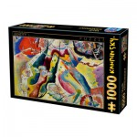 Puzzle  Dtoys-75116 Kandinsky Vassily: Painting with Red Spot