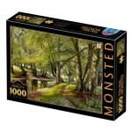 Puzzle  Dtoys-77622 Peder Mørk Mønsted - A Summer Day in the Forest with Deer in the Background