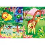 3 Puzzles - Animals of the Savannah (3x48)