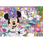 Clementoni-20154 Jewels Puzzle - Minnie Happy Helper