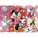 Puzzle  Clementoni-20402 Minnie Maus beim Shopping