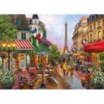 Puzzle  Clementoni-39482 Blumen in Paris