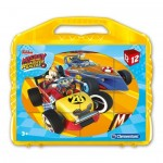 Clementoni-41183 Würfelpuzzle - Ben 10Mickey and the Roadster Racers