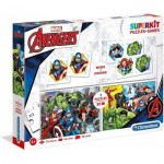 Superkit 4 in 1 - The Avengers (2 Puzzles + Memory + Domino)
