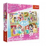 Puzzle   4 in 1 - Happy Day of Princesses