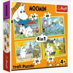 Puzzle   4 in 1 - Moomin happy day