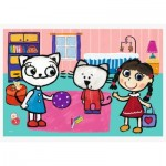 Puzzle  Trefl-17343 Kittykit with friends