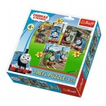 Trefl-34821 3 Puzzles - Thomas & Friends