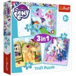 Trefl-34843 3 Puzzles - My Little Pony