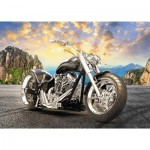 Puzzle  Trefl-37384 Black Motorcycle