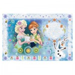 Trefl-75111 Frozen - Puzzle + Magic Marker