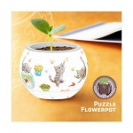 3D Puzzle - Flower Pot - Cat's Play Time