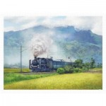 Puzzle   Lai Ying Tse - A Steam Train Passes Through the Rice Fields