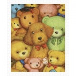 Pintoo-H1124 Puzzle aus Kunststoff - Smart - Poodle and Teddy Bears
