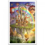 Pintoo-H1562 Puzzle aus Kunststoff 1000 Teile - Ciro Marchetti: Tarot Town