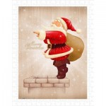 Pintoo-H1608 Puzzle aus Kunststoff - Santa Claus Dive in The Fireplace