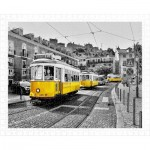 Pintoo-H1767 Puzzle aus Kunststoff - Yellow Trams in Lisbon