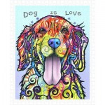 Pintoo-H2039 Puzzle aus Kunststoff - Dean Russo - Dog Is Love