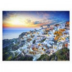 Pintoo-H2073 Puzzle aus Kunststoff - Beautiful Sunset of Greece