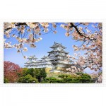 Puzzle aus Kunststoff - Himeji-jo Castle in Spring Cherry Blossoms