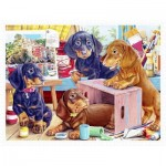 Puzzle aus Kunststoff - Puppies in the Studio