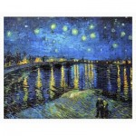 Puzzle aus Kunststoff - Vincent Van Gogh - Starry Night Over The Rhone, 1888